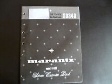 Original Service Manual Marantz SD340