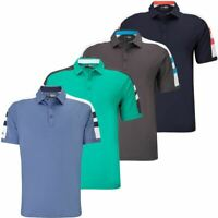 55% OFF RRP CALLAWAY CONTRAST SHOULDER BLOCK PERFORMANCE MENS GOLF POLO SHIRT