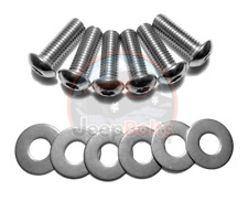 Jeep TJ Wrangler Front Standard Bumper Bolts NO HOOK Stainless Steel Set 12 pc