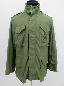P4999 VTG US ARMY Flyer's M-65 Could Weather Military Field Jacket