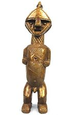 Art African Tribal - Fetish Ambete Covered in Plates brass - 43 Cm