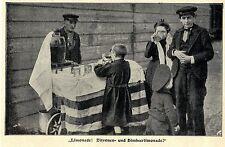 Alt-Berliner Straßenmarkt Delikatessen: LIMONADE Bilddokument von 1902