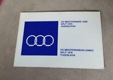 Vintage QSL card Radio Klub Marjan Yugoslavia VIII Mediterranean Games Olympics