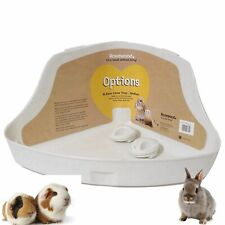 Corner Litter Tray For Small Animals, Rabbit With Easy Locking Clips Size Medium