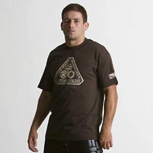 NEW Bad Boy Mens T Shirt - Train More Bleed Less - Brown BJJ Vale Tudo MMA UFC