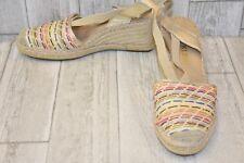 Anne Klein Abbey Wedge Sandal - Women's Size 11 - Natural