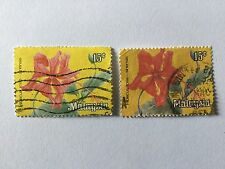 Malaysia 1979  WP Flowers Definitive Series 15c two stamps in different Colour