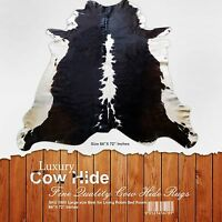 "New Cowhide Rugs Area Rug Cow hide Skin Leather Size (64""x72"") Cowhide SKU 3003"
