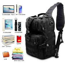 Black Tactical Backpack Shoulder Bag Travel Men's Assault Portable Bag