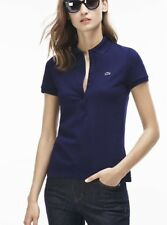 Feminine Lacoste Navy Polo Uk12 / 40 / US 8 With Tags