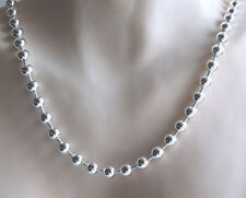 "Collar de cadena de bola de plata esterlina italiano, ancho 5mm, longitudes de 16"" a 30"""