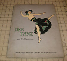 """1906 FIRST EDITION """"DER TANZ"""" (THE DANCE) F. Von REZNICEK Color Prints Portfolio"""