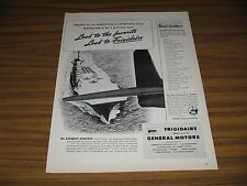 1945 Print Ad Frigidaire Air Condition,Refrigeration Aircraft Carriers,PT Boats