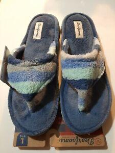 Melanie women Terry Cloth Thong Slipper Size L Dearfoams