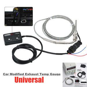 12V LED Digital Display With Sensor Pyrometer Car Modified Exhaust Temp Gauge