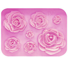 Rose Flowers silicone mold Cake Chocolate Mold wedding Cake Decorating Tools