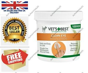 Vet's Best Eye Cleaning Pads for Dogs Pack of 100 Eye Wipes UK Stock FAST&FREE