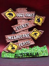 Australia Gold Coast Sydney Melbourne Perth Fridge Magnet Holiday Souvenir