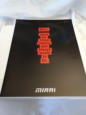 RICOH MIRAI 35mm CAMERA LARGE DELUXE BROCHURE Mint Condition Free Shipping 2 USA