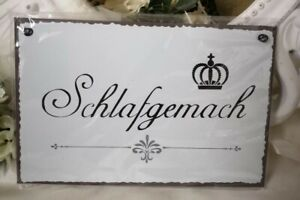 Mural Bedchamber Text Label Sign Tin Sign Quote Vintage Shabby 7/8in