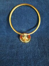 Gatco Solid Brass Towel Holder Ring Polished Brass