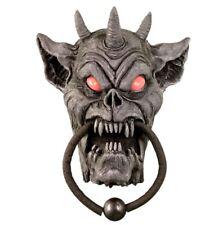 Animated Gargoyle Door Knocker Halloween Prop Talking Light Up Eyes w video NIB