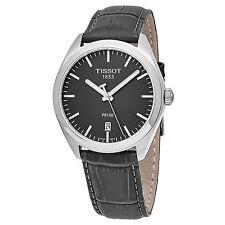 Tissot Men's PR 100 Grey Dial Grey Leather Swiss Quartz Watch T1014101644100