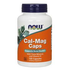 Now Foods Cal-Mag con minerales traza vitamina D3 120 Cápsulas | la salud de los huesos