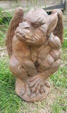 Debout aile gargouille gothique statue décoration de jardin sur mesure Pierre FONTE DECOR