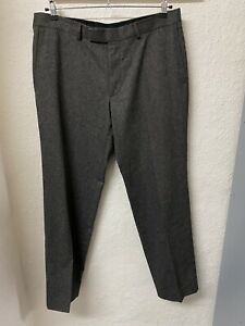 "Hugo Boss Mens Brown Wool Trousers Size W 38"" L33"""