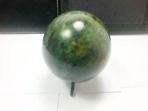 Hand Polished Naphrite Jade Crystal Sphere Pakistan NJ1212