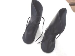 VICTORIAN STYLE BLACK  DOLL BOOTS IN TWO SIZES