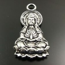 27*17mm Antique Silver Alloy Bodhisattv Budda Charms Pendants 15pcs