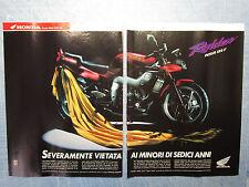MOTOSPRINT992-PUBBLICITA'/ADVERTISING-1992- HONDA RAIDEN NSR 125 F (2 fogli)