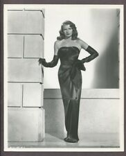 RITA HAYWORTH Gilda Iconic ROBERT COBURN 1945 Photo Black Mame Dress J4607