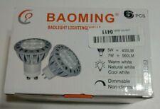 BAOMING MR16 LED Bulbs 5W Warm White 2700K, 50W Halogen Replacement, GU5.3 Base