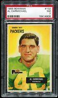 1955 Bowman Football #102 AL CARMICHAEL Green Bay Packers PSA 7 NM