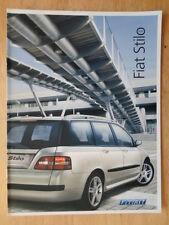 FIAT STILO orig 2004 UK Mkt sales brochure - Active Aircon Dynamic