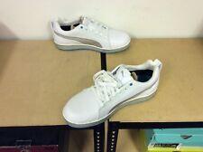 Puma | HC Lux Golf Shoe | White Silver Blue | Mens 10