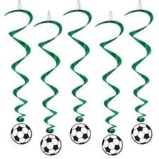 Soccer Hanging Whirls 5 Pack Birthday Party Decorations