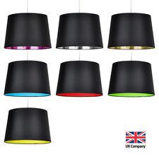Modern Black Ceiling / Table or Floor Lamp Light Shade Lampshade Coloured Inner