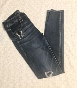 American Eagle Outfitters Size 2 Super Stretch Jegging Factory Distressed Jeans