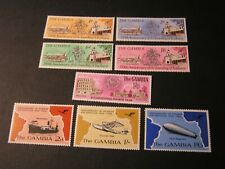 GAMBIA, SCOTT # 228-231(4)+234+241-243(3), 1956-69 COAT OF ARMS ISSUES MH