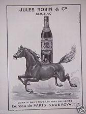 PUBLICITÉ 1949 JULES ROBIN & C° COGNAC - CHEVAL -  ADVERTISING