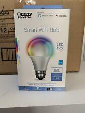 FEIT Electric LED 60W Dim Color Adjust Voice Smart Wifi Bulb A19 BRAND NEW 12 PK