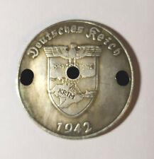 Piece Hitler 1942 5RM Reichsmark Coin Crimee Crimea Krim ww2 German