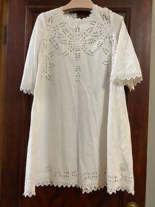 Isabel Marant NWT White Eyelet Cotton Dress 38
