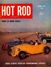 HOT ROD APRIL 1951,CRA ROADSTER,INDIANAPOLIS,DAYTONA,HORNING GMC,HOTROD MAGAZINE