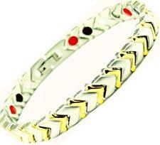 STEEL Magnetic Fir Energy BALANCE Power Bracelet Health 4 in 1 Bio