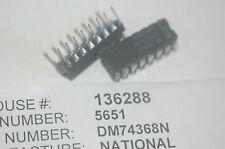 NATIONAL DM74368N 16-Pin Plastic Dip Dual Driver Buffer IC New Lot Quantity-10